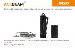 Flashlight ACEBEAM M20 XPG3 CREE LED