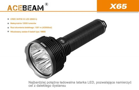 Flashlight Acebeam X 65-CREE XHP35 HI