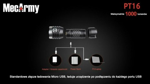 Flashlight charging PT16 Mecarmy