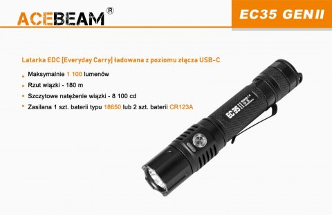Acebeam EC35 GEN II Flashlight