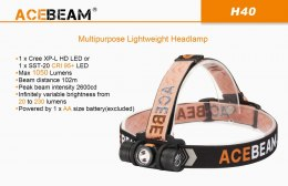 Flashlight leading Acebeam H40