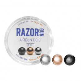 Shot BBs RazorGun TEST (Black, Silver, Gold) 4.46 mm 3x100 pcs.