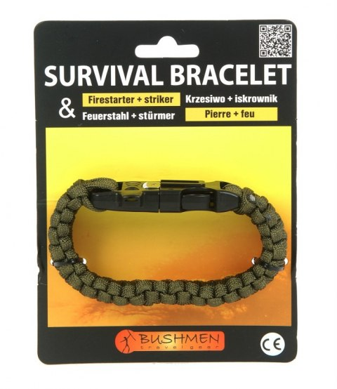 3 m survival bracelet. with flint and whistle
