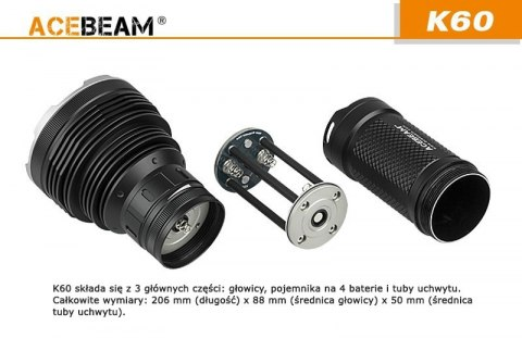 Acebeam Flashlight K60