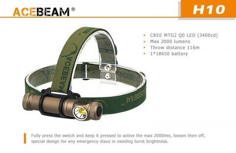 Frontal flashlight Acebeam H10